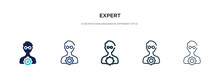 Expert Icon In Different Style...