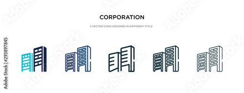 Fotografie, Obraz corporation icon in different style vector illustration