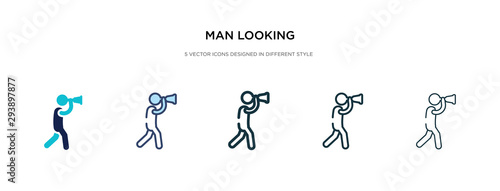 man looking icon in different style vector illustration Tableau sur Toile