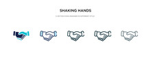 Shaking Hands Icon In Differen...