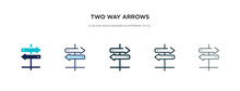 Two Way Arrows Icon In Differe...