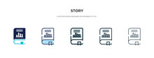 Story Icon In Different Style ...