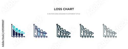loss chart icon in different style vector illustration Wallpaper Mural