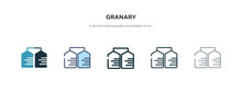 Granary Icon In Different Styl...