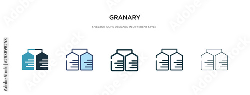 Obraz granary icon in different style vector illustration. two colored and black granary vector icons designed in filled, outline, line and stroke style can be used for web, mobile, ui - fototapety do salonu