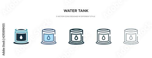 water tank icon in different style vector illustration Tapéta, Fotótapéta