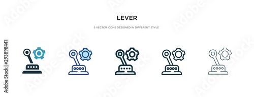 Fotomural lever icon in different style vector illustration