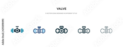 valve icon in different style vector illustration Canvas Print