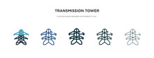 Transmission Tower Icon In Dif...
