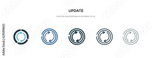 Fotografie, Obraz update icon in different style vector illustration