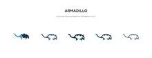 Armadillo Icon In Different St...