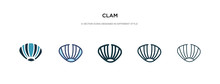 Clam Icon In Different Style V...