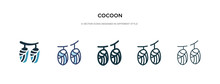 Cocoon Icon In Different Style...