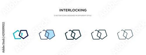 Obraz na plátně  interlocking icon in different style vector illustration