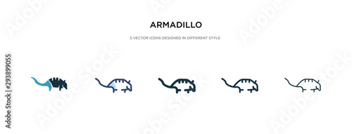 armadillo icon in different style vector illustration Canvas Print