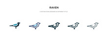 Raven Icon In Different Style ...