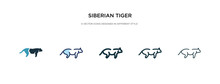 Siberian Tiger Icon In Differe...
