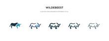 Wildebeest Icon In Different S...