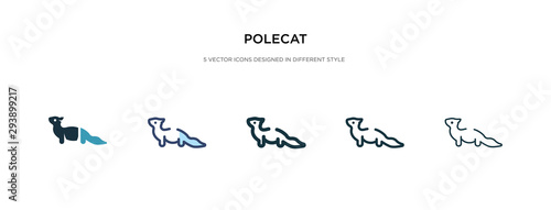 Fényképezés  polecat icon in different style vector illustration