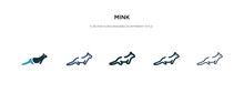 Mink Icon In Different Style V...