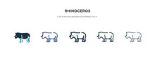 Rhinoceros Icon In Different S...