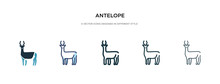 Antelope Icon In Different Sty...