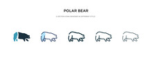 Polar Bear Icon In Different S...