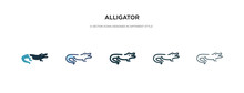 Alligator Icon In Different St...