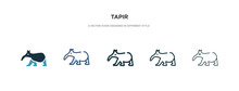 Tapir Icon In Different Style ...