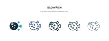 Blowfish Icon In Different Sty...