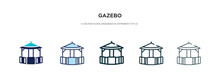 Gazebo Icon In Different Style...