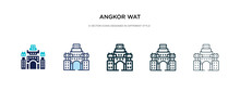 Angkor Wat Icon In Different S...