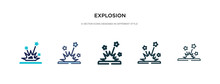 Explosion Icon In Different St...