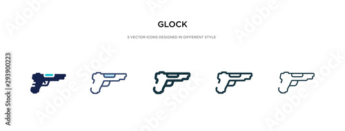 glock icon in different style vector illustration Canvas Print
