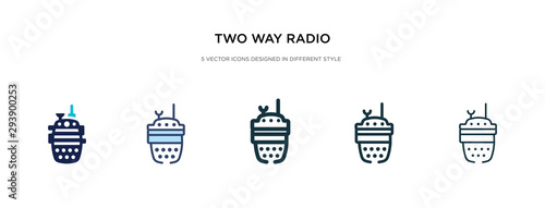 Fotografie, Obraz two way radio icon in different style vector illustration