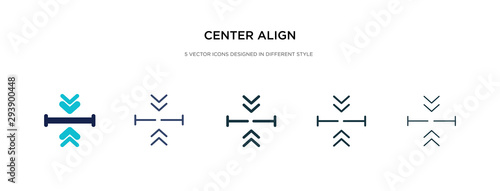 center align icon in different style vector illustration Canvas Print
