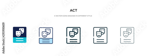 Fotografie, Obraz act icon in different style vector illustration