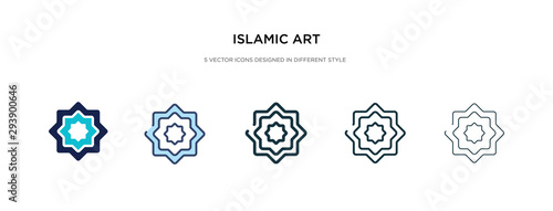 islamic art icon in different style vector illustration Wallpaper Mural