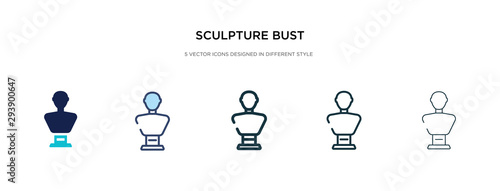 Foto sculpture bust icon in different style vector illustration