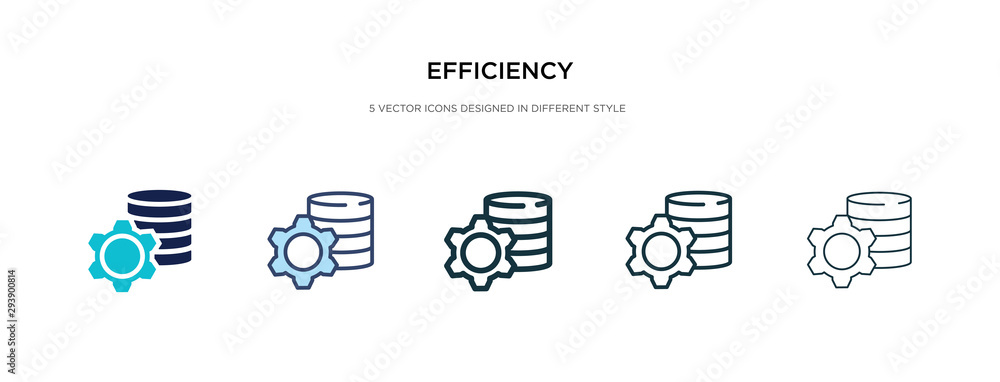 Fototapeta efficiency icon in different style vector illustration. two colored and black efficiency vector icons designed in filled, outline, line and stroke style can be used for web, mobile, ui