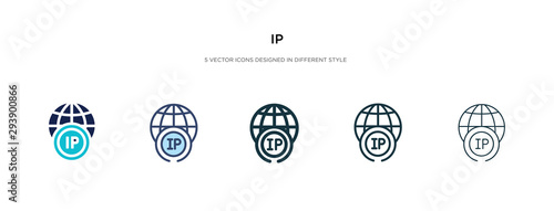 Photo ip icon in different style vector illustration