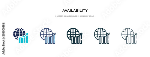 availability icon in different style vector illustration Canvas Print