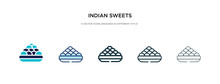 Indian Sweets Icon In Differen...