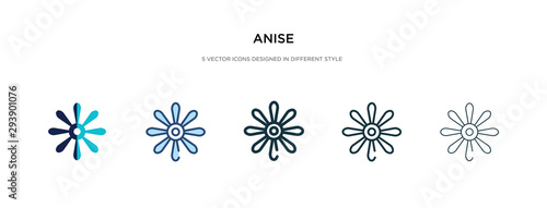 anise icon in different style vector illustration Canvas Print