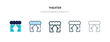 Theater Icon In Different Styl...