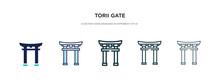 Torii Gate Icon In Different S...