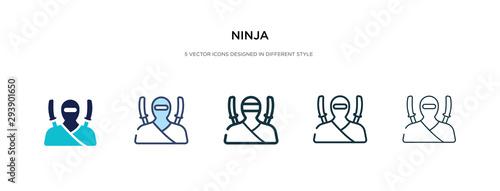 Fotografia ninja icon in different style vector illustration