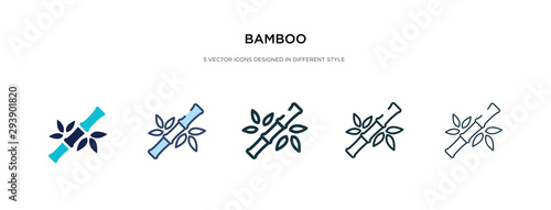 Slika na platnu bamboo icon in different style vector illustration