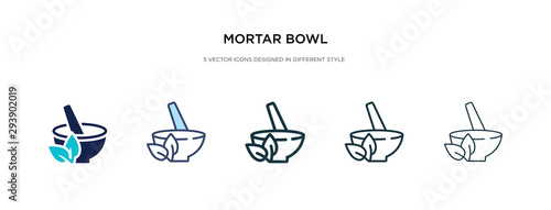 mortar bowl icon in different style vector illustration Wallpaper Mural