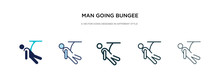 Man Going Bungee Jumping Icon ...